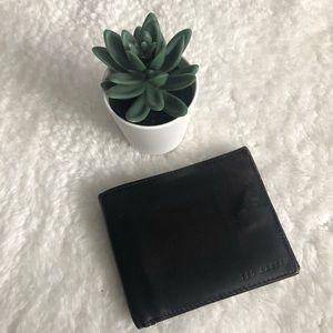 Ted Baker Color Block Bi-Fold Mens Leather Wallet